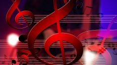 Red Treble Clef