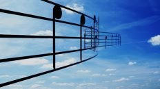 Music notes in the sky