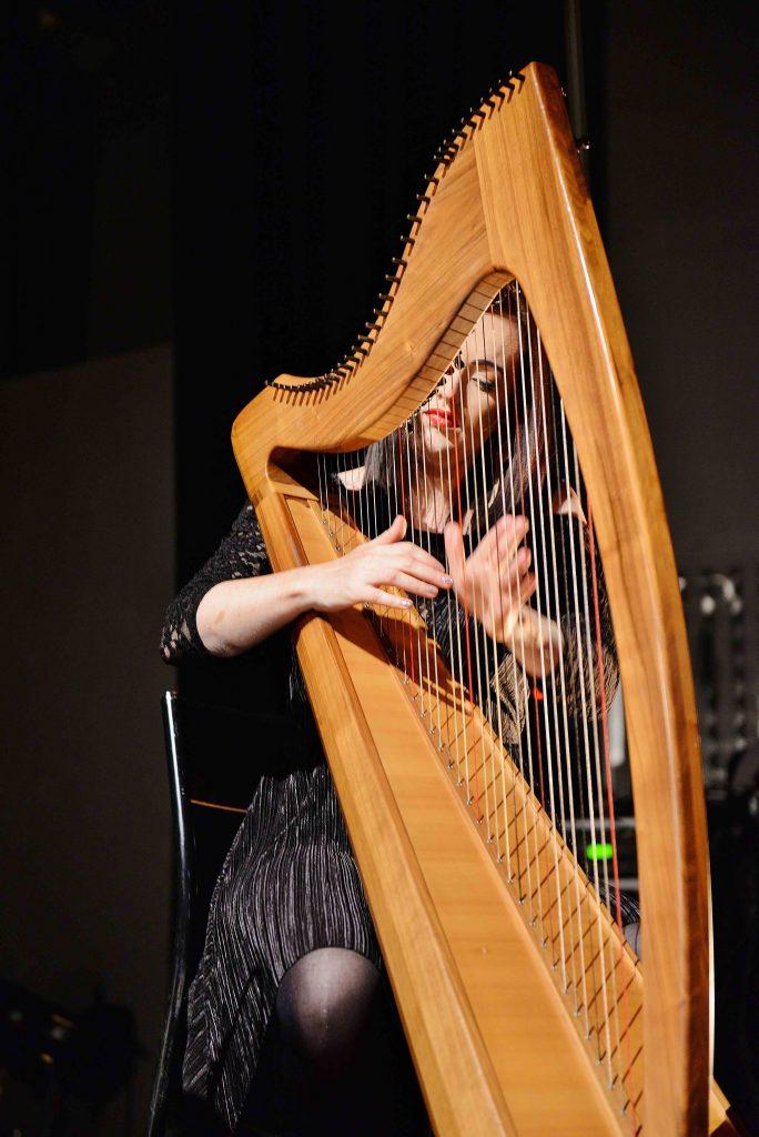 Rachel Hair with harp